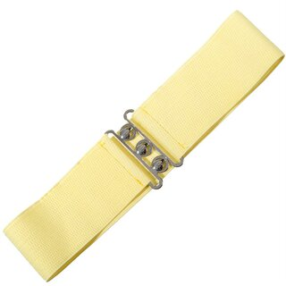 Banned Stretch Belt - Vintage Bond Pale Yellow