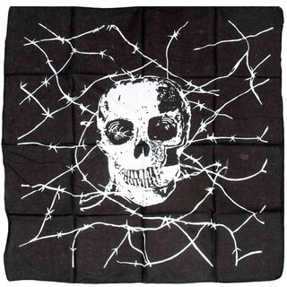 Rock Daddy Scarf - Wire Skull
