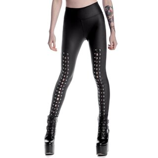 Killstar Kunstleder Leggings - Taylor Laced-Up
