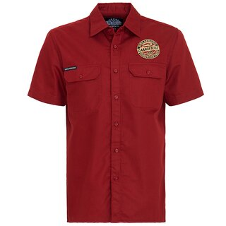 King Kerosin Vintage Worker Shirt - Grage Built Red