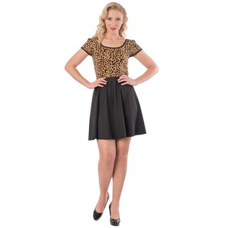 Steady Clothing Skater Kleid - Leopard