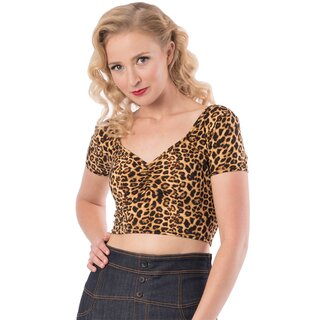 Steady Clothing Crop Top - Isabelle Leopard