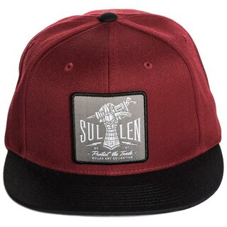 Sullen Clothing Snapback Cap - Iron Hand Burgundy
