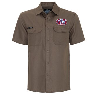King Kerosin Vintage Worker Shirt - FTW Khaki