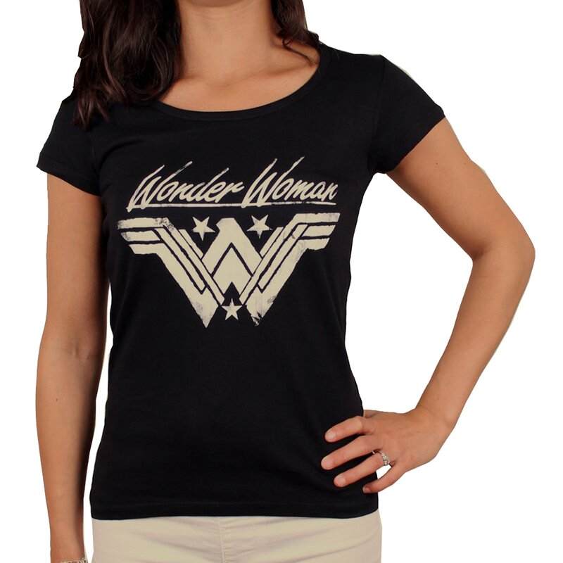Wonder Woman Damen T-Shirt - Grunge Logo