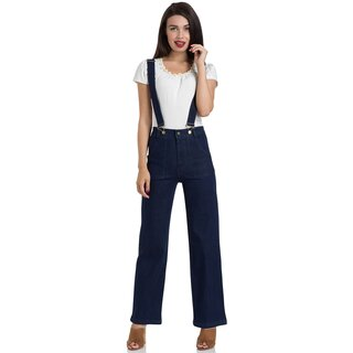 Voodoo Vixen Vintage Jeans with Suspenders - Shelly