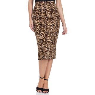 Voodoo Vixen High-Waist Pencil Skirt - Izzy Leopard