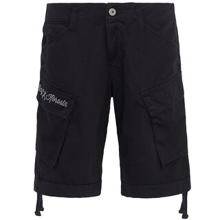 King Kerosin Cargo Shorts - Bermuda Black