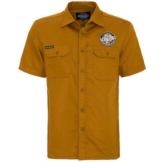 King Kerosin Vintage Worker Shirt - True Roots Ochre