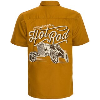 King Kerosin Vintage Worker Shirt - Hot Rod Ochre