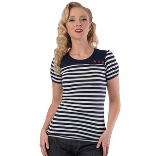 Steady Clothing Damen T-Shirt - Little Rebel Dunkelblau