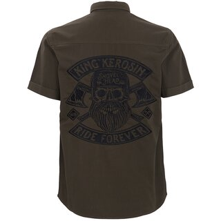 King Kerosin Vintage Worker Shirt - Ride Forever Olive