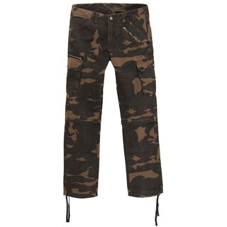 King Kerosin Cargo Jeans Trousers / Shorts - Dual Camouflage