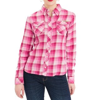 Queen Kerosin Flannel Shirt- Blanko Pink