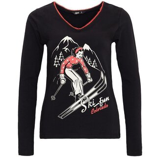 Queen Kerosin Longsleeve T-Shirt - Ski Fun