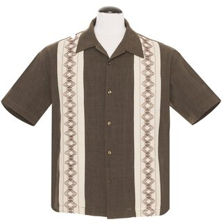 Steady Clothing Vintage Bowling Shirt - Guayabera Estable...