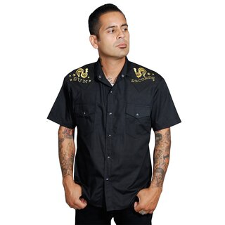 Sun Records by Steady Clothing Western Shirt - Rooster Crow