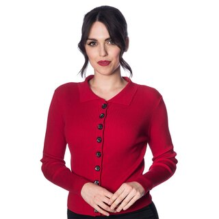 Dancing Days Cardigan - Rochelle Red