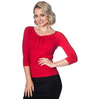 Dancing Days 3/4-Sleeve Top - Pretty Illusion Red