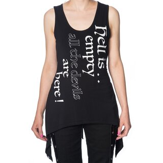 Banned Laceback Tank Top - Hell