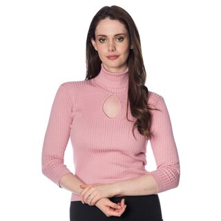 Dancing Days Vintage Ladies Jumper - Louise Dusty Pink