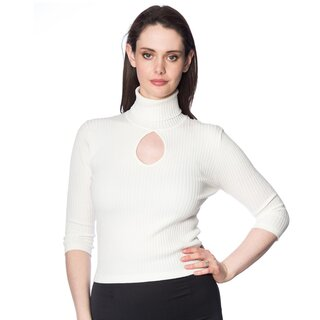 Dancing Days Vintage Damen Pullover - Louise Creme