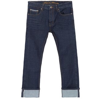 King Kerosin Jeans Trousers - Selvedge Rinsed Wash