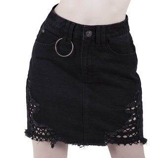 Killstar Denim Mini Skirt - Rawked Out