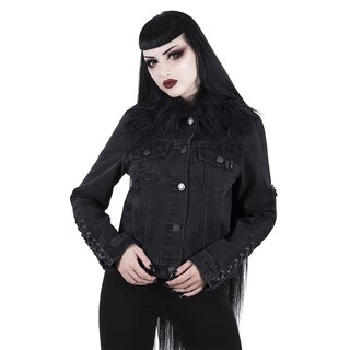 Killstar Denim Biker Jacket - Dark Daze