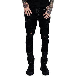 Killstar Denim Jeans Trousers - Diablo