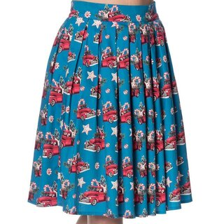 Dancing Days Pleated Skirt - Christmas Drive Thru