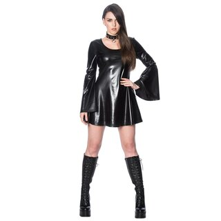 Banned Faux Leather Mini Dress - Minimal Goth