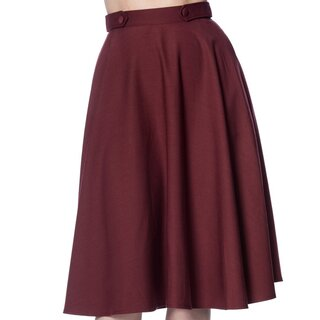 Dancing Days Circle Skirt - Di Di Swing Burgundy