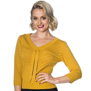 Dancing Days Vintage Jumper - Charlie Chevron Yellow