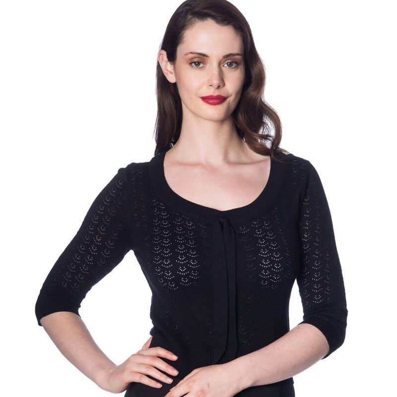 Maglione Dancing Days Vintage - Pointelle Black anni 50