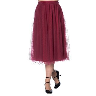 Dancing Days Tulle Skirt - Timea Burgundy