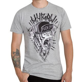 Hyraw T-Shirt - Hardcore Monkey Grau