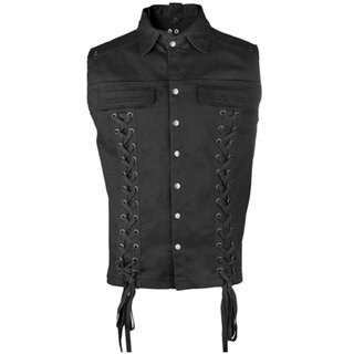 Black Pistol Gothic Vest - Eye Vest Denim