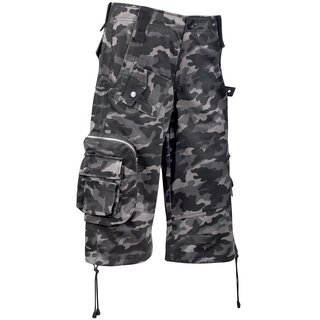 Black Pistol Shorts - Army Short Pants Camouflage