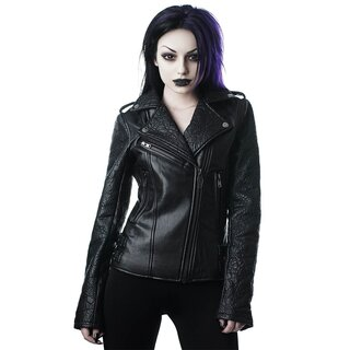 Killstar Vegan Leather Biker Jacket - Graveyard Shift
