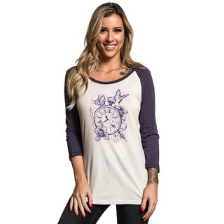 Sullen Clothing 3/4-Arm Raglan T-Shirt - Time Will Tell XS