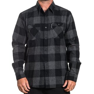 Sullen Clothing Flannel Shirt - Checks Black-Grey