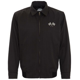 King Kerosin Gabardine Jacket - Speedway Black
