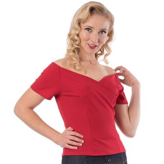 Steady Clothing Carmen Top - Betty Red