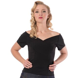 Steady Clothing Carmen Top - Betty Black