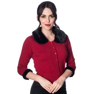 Banned Retro Cardigan - Sapphire Red