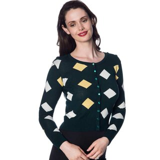 Banned Retro Cardigan - 60s Diamond