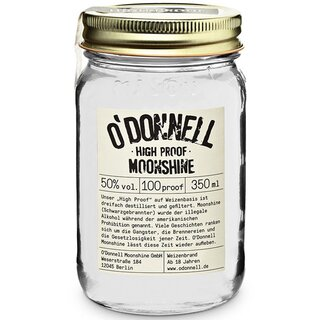 ODonnell Moonshine Liquor - High Proof 350ml