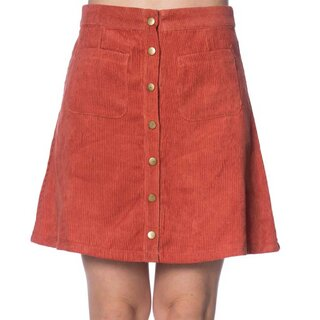 Banned Retro Cord Mini Skirt - Erica Blood Orange