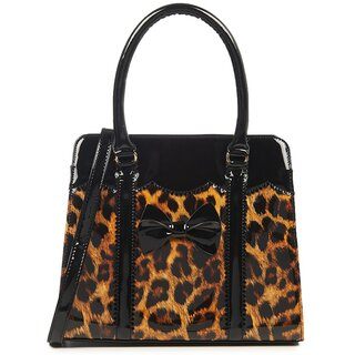Banned Retro Handbag - Juicy Bits Leopard Black